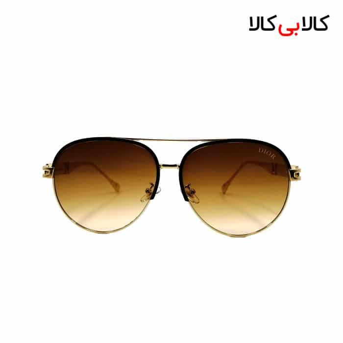 عینک آفتابی زنانه دیور مدل CF58141 قهوه ای
