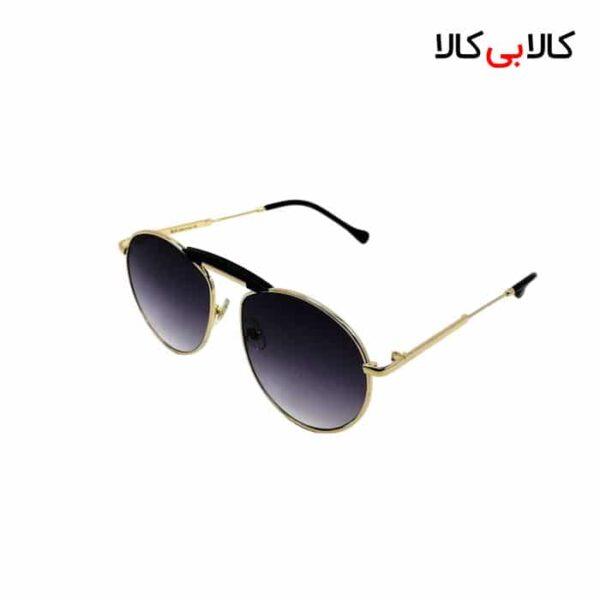 عینک آفتابی ری بن مردانه و زنانه مدل 6297 شیشه گرد مشکی با بدنه طلایی