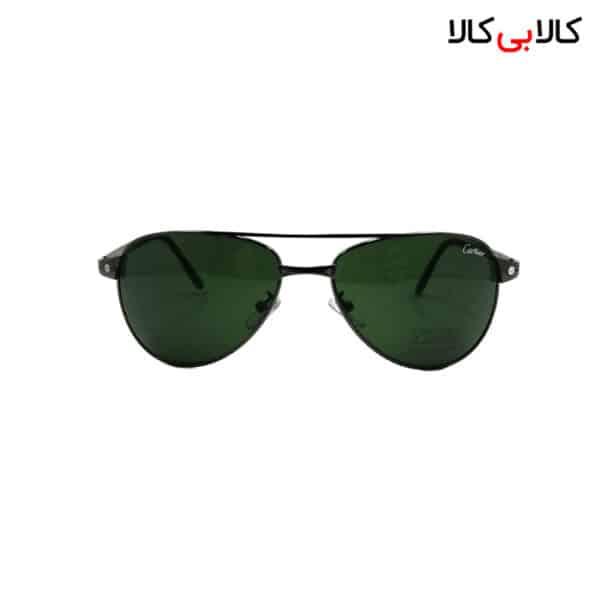 عینک آفتابی زنانه و مردانه کارتیر (Cartier) مدل T-8200589-1 دسته طوسی