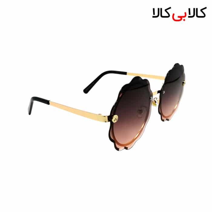 عینک آفتابی زنانه فندی مدل 2476 هایلایت قهوه ای